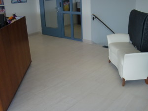 limestone tile after resurfacing & restoration